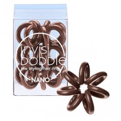Invisibobble NANO Pretzel Brown gumička do vlasů hnědá- 3ks