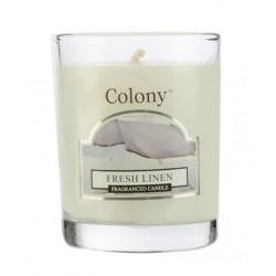 Colony votivní svíčka ve skle Fresh linen/Čisté prádlo 123g