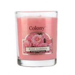 Colony votivní svíčka ve skle Růžová zahrada 50g