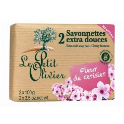Le Petit Olivier extra jemné mýdlo Třešňový květ 2x100g