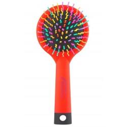 Rainbow brush kartáč na vlasy se zrcátkem medium červený