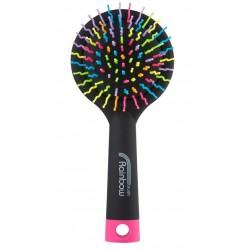 Rainbow brush kartáč na vlasy se zrcátkem medium černý