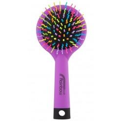 Rainbow brush kartáč na vlasy se zrcátkem medium fialový