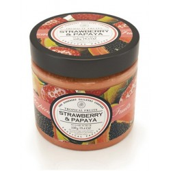 Somerset Toiletry sugar scrub Jahody a papaya 550g cukrový peeling