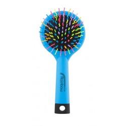 Rainbow brush kartáč na vlasy se zrcátkem medium modrý