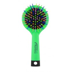 Rainbow brush kartáč na vlasy se zrcátkem medium zelený