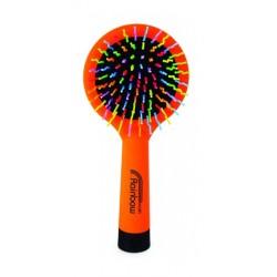 Rainbow brush kartáč na vlasy se zrcátkem medium oranžový