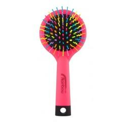 Rainbow brush kartáč na vlasy se zrcátkem medium růžový