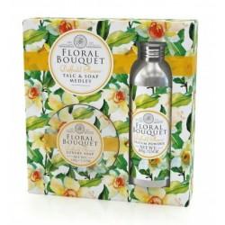 Somerset Toiletry dárková sada Narcis luxusní mýdlo 150g + parfémovaný pudr 100g