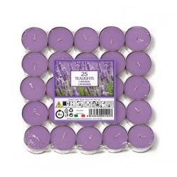 Price´s čajové svíčky 25ks Levandule