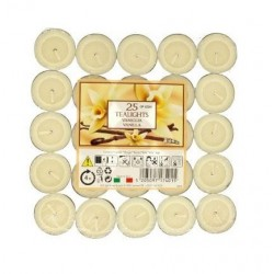 Price´s čajové svíčky 25ks Vanilla - vanilka