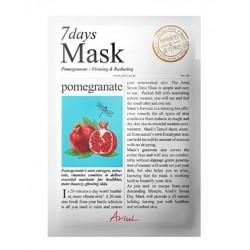 Ariul 7days mask Pomegranate 20g zklidňující maska na obličej Granátové jablko