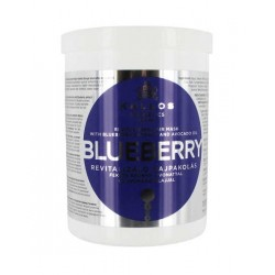 Kallos Blueberry hair mask 1000ml maska pro suché a poškozené vlasy